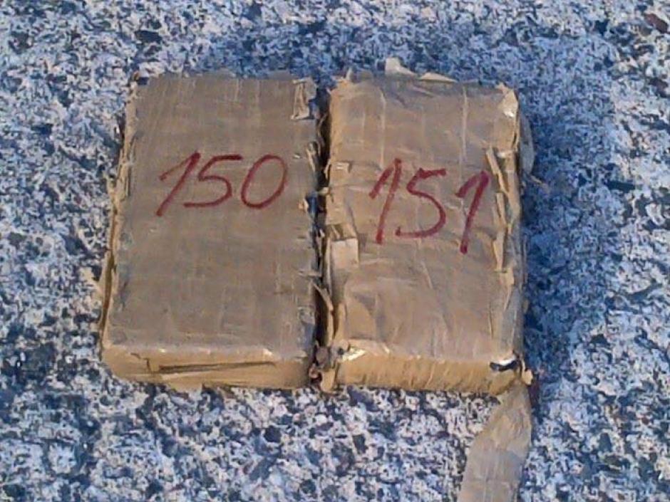 Pruebas de campo dieron positivo para cocaína. (Foto: Ministerio de Gobernación)