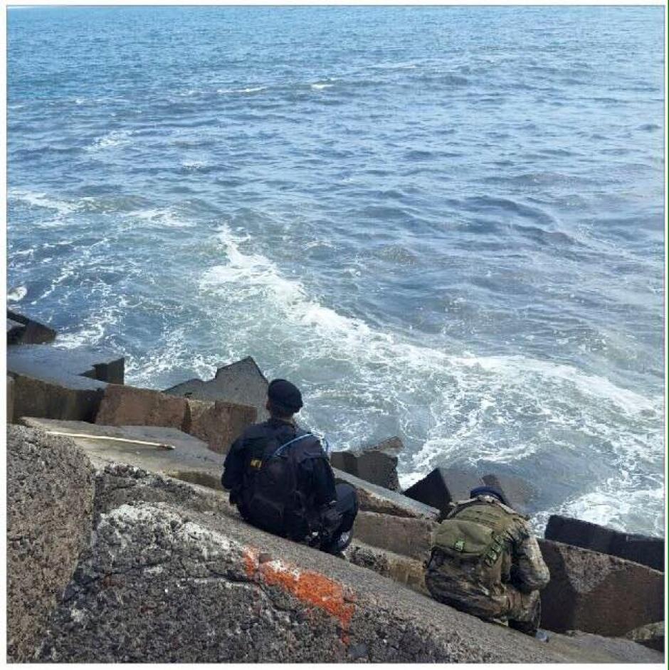 El ilícito se encontraba flotando a la orilla del mar. (Foto: Ministerio de Gobernación)