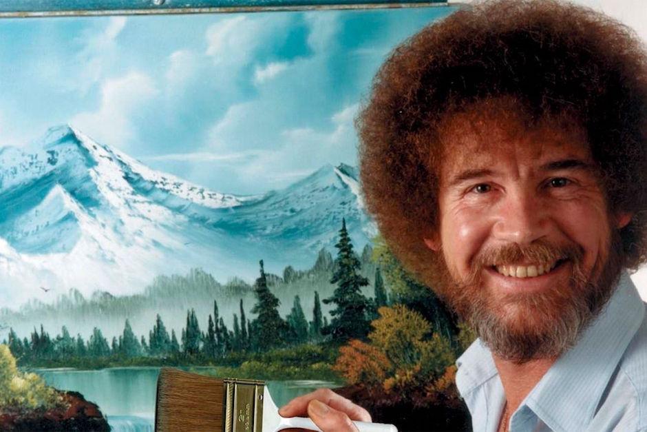 """Bob Ross fue conductor del popular programa """"El placer de pintar"""". (Foto: sopitas.com)"""