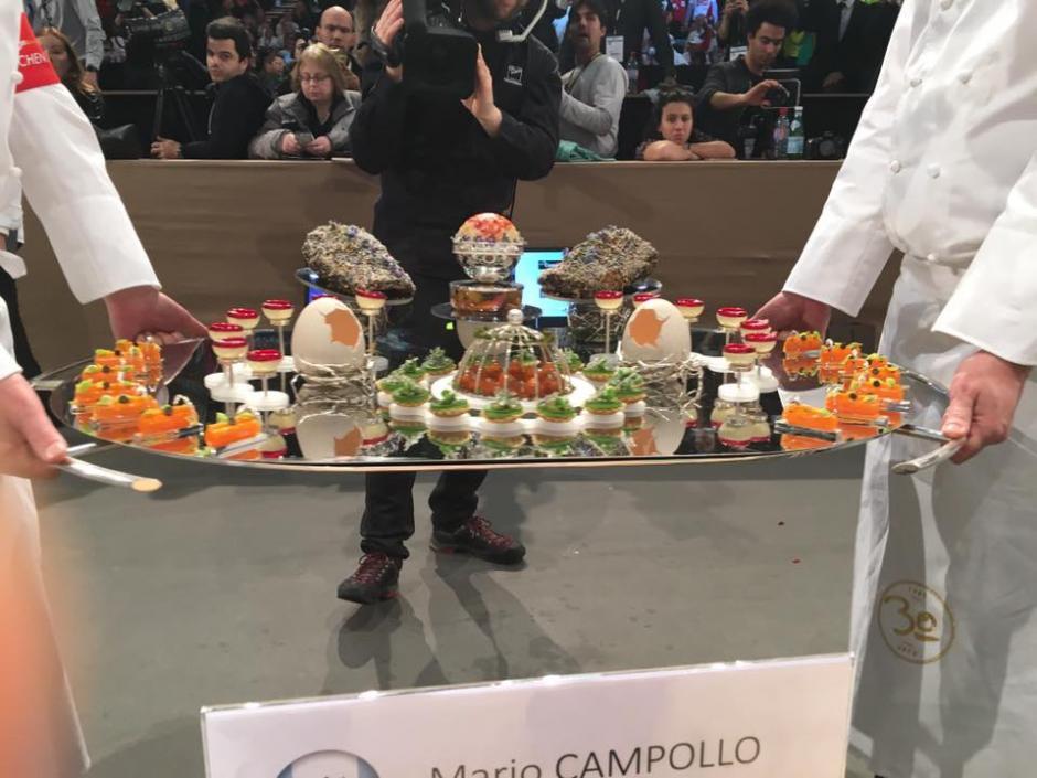 Esta es el plato Islandia, de Mario Campollo. (Foto: Bocuse Dor Guatemala)