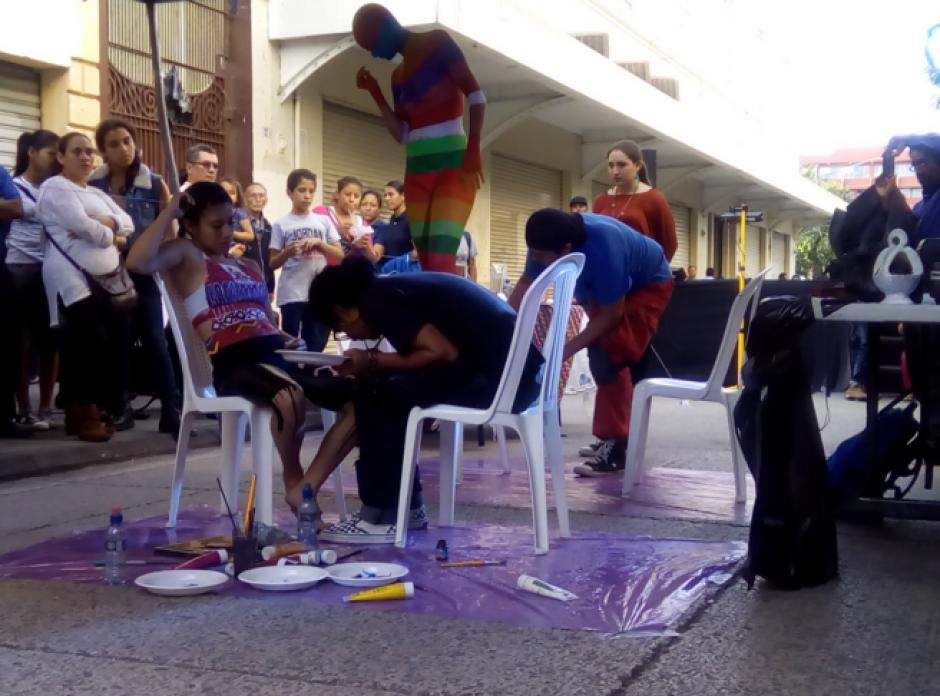 El Body Paint Festival 2016 se celebró en el marco del Festival del Centro Histórico. (Foto: Guate Cultural)
