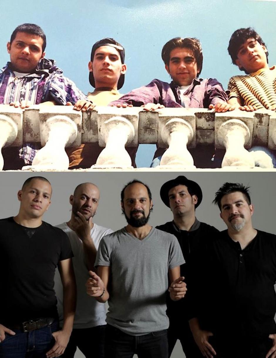 El antes y después de los integrantes del grupo. (Foto: Bohemia Suburbana oficial)