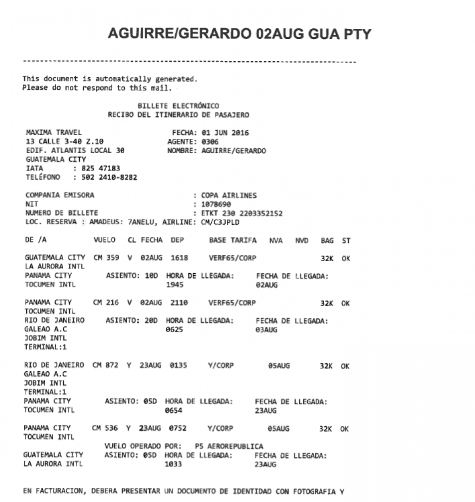 El boleto aéreo del Presidente del COG es más caro que el de la mayoría de atletas. (Foto: Archivo/Soy502)