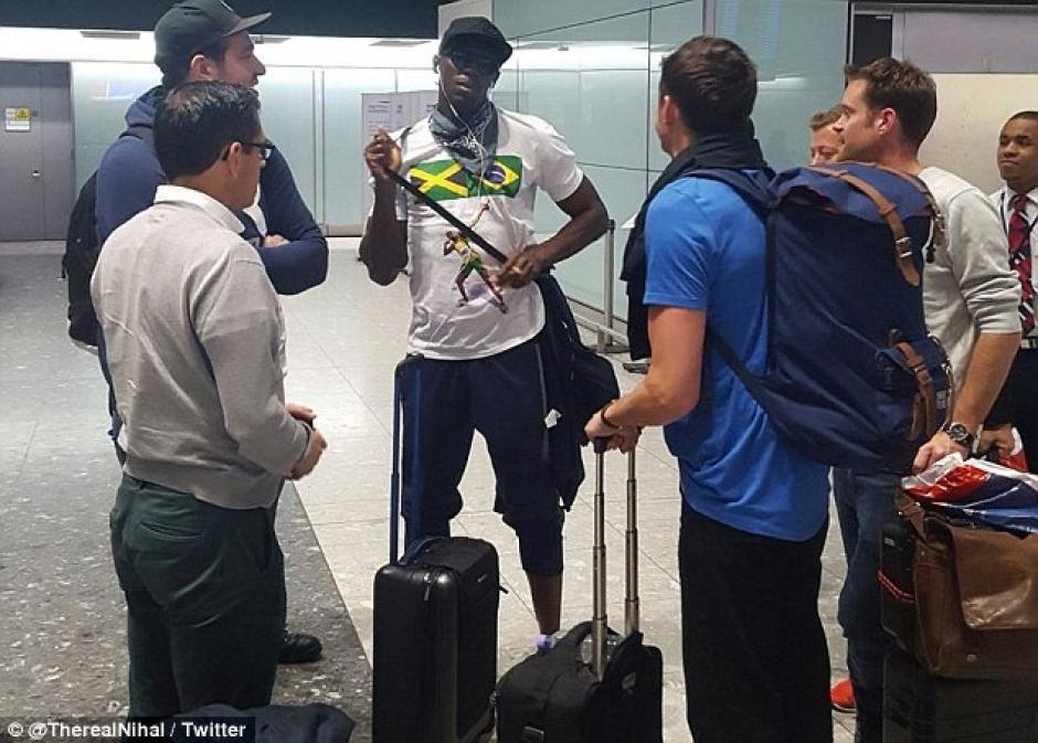 El jamaiquino llegó a Londres el lunes 22. (Foto: Daily Mail)
