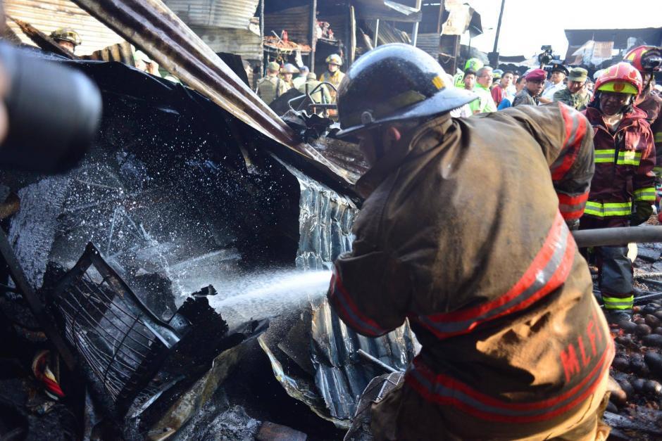 Las llamas fueron controladas en su totalidad.  (Foto: Jesús Alfonso/Soy502)