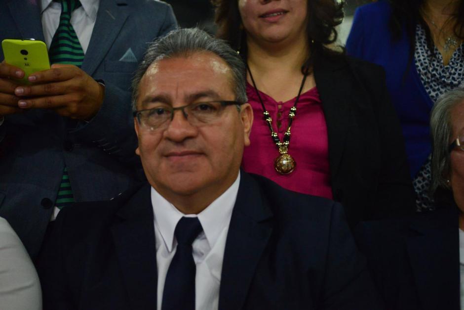 Bonerge Amílcar Mejía Orellana participa como candidato a magistrado titular de la CC. (Foto: Jesús Alfonso/Soy502)