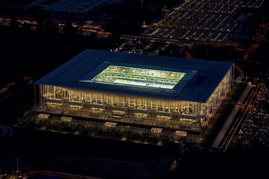 Vista aérea del estadio Bordeaux Atlantique. (Foto: Facebook/Stade Bordeaux)