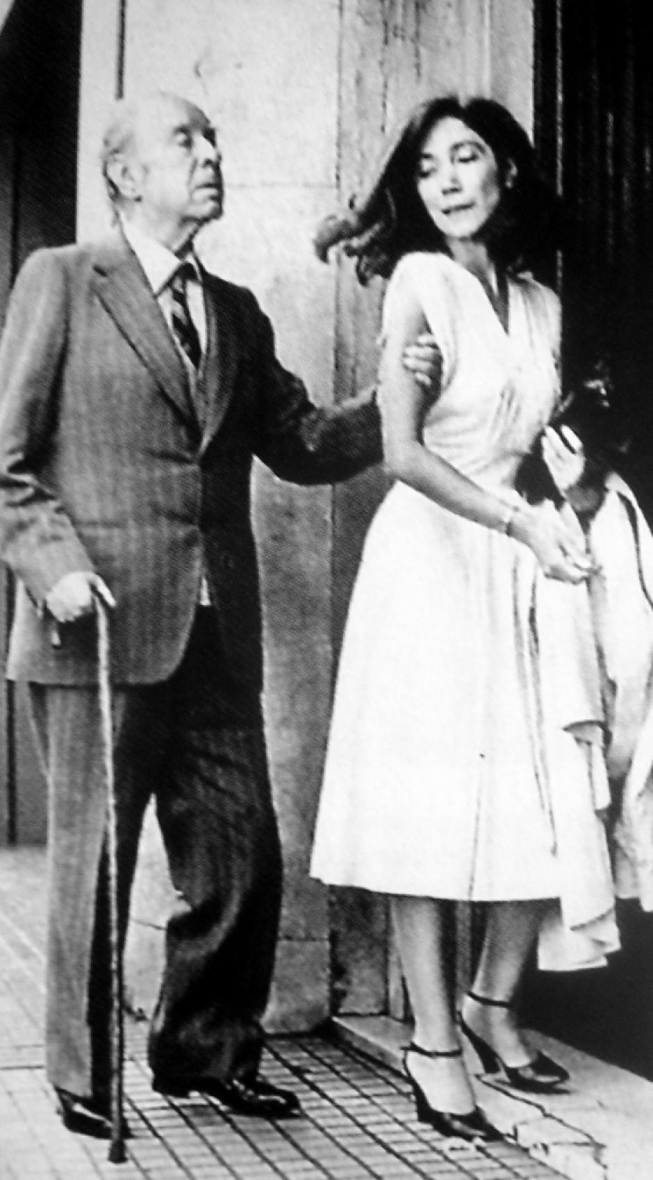 Luis Borges se casó con su asistente María Kodama. (Foto: cadaverdetinta.blogpot.com