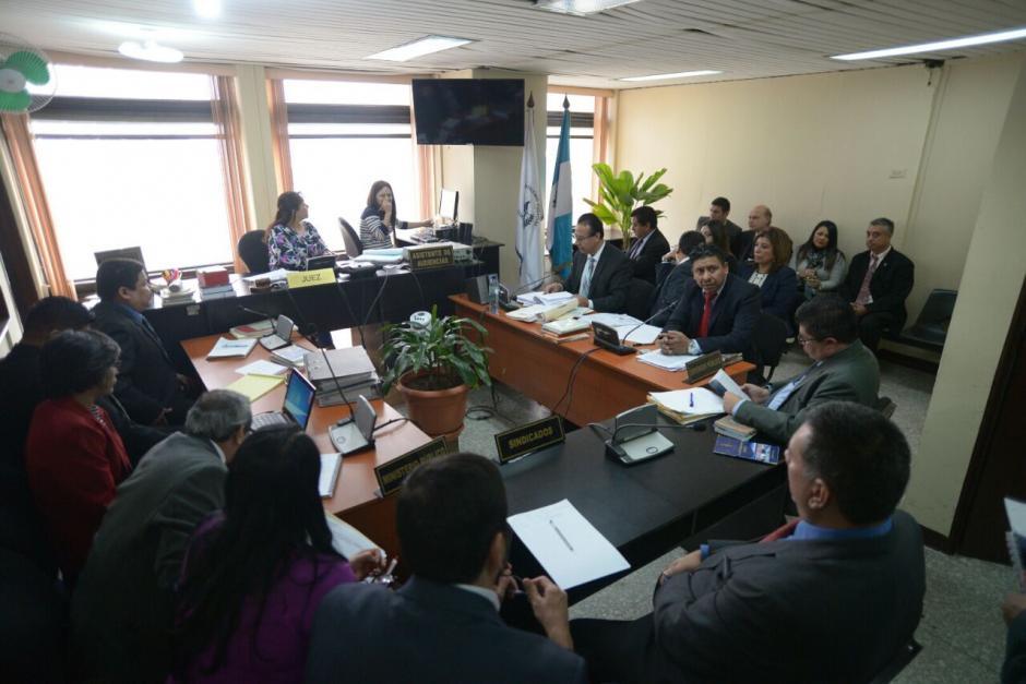 Esta es la sala donde se desarrolla la audiencia. (Foto: Wilder López/Soy502)