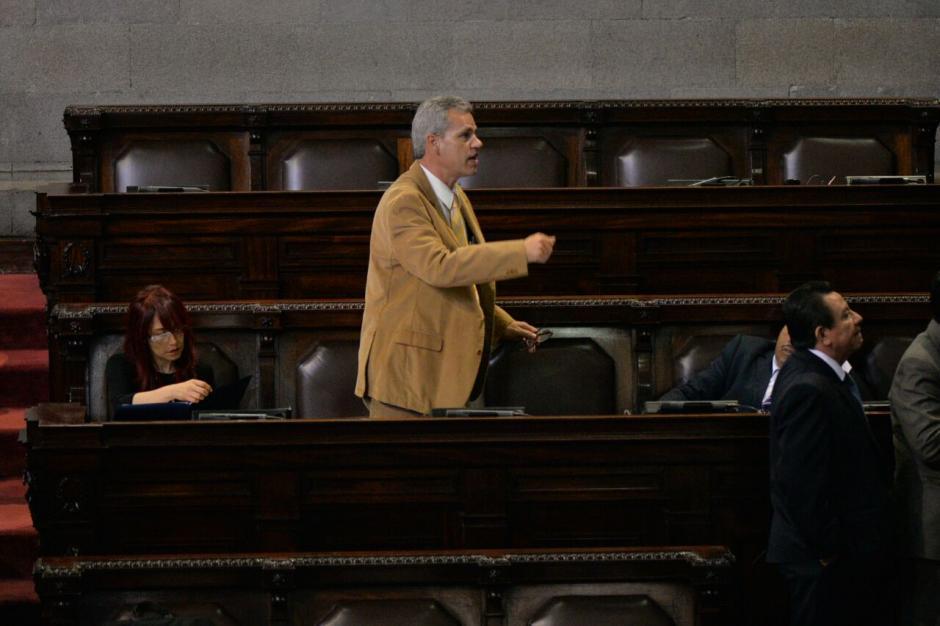 Christian Boussinot diputado de Todos tiene un antejuicio por supuesta extorsión a sus empleados. (Foto: Wilder López/Soy502)