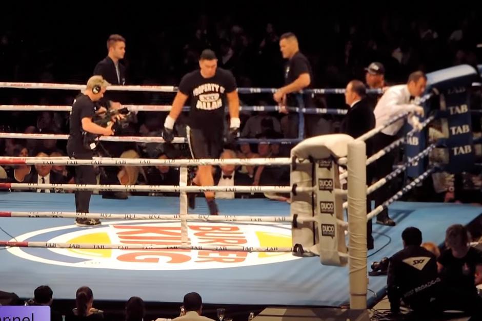 Los boxeadoresWillis Meehan yLeamy Lakopo Tato se preparaban para enfrentarse. (Foto: YouTube)