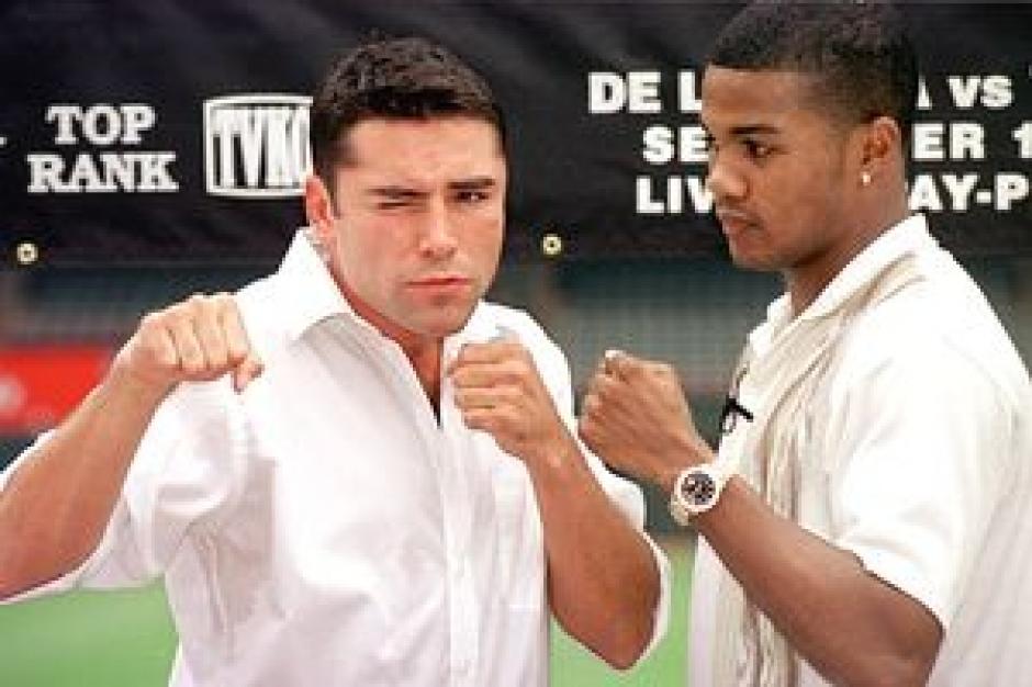 De la Hoya y Tito Trinidad
