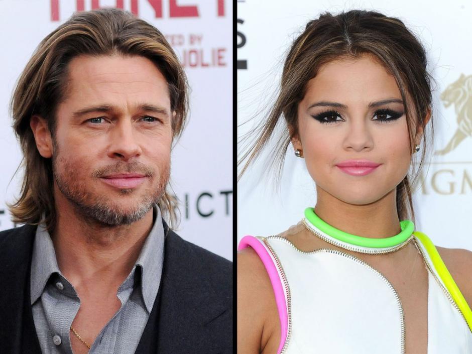 Más de 20 años es la diferencia de edades entre Brad Pitt y Selena Gómez)