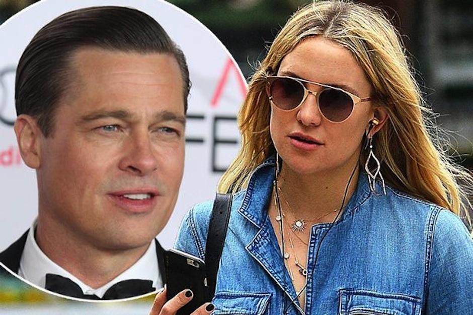 Se corren rumores acerca de una relación entre Brad Pitt y Kate Hudson. (Foto: Mirror.co.uk)