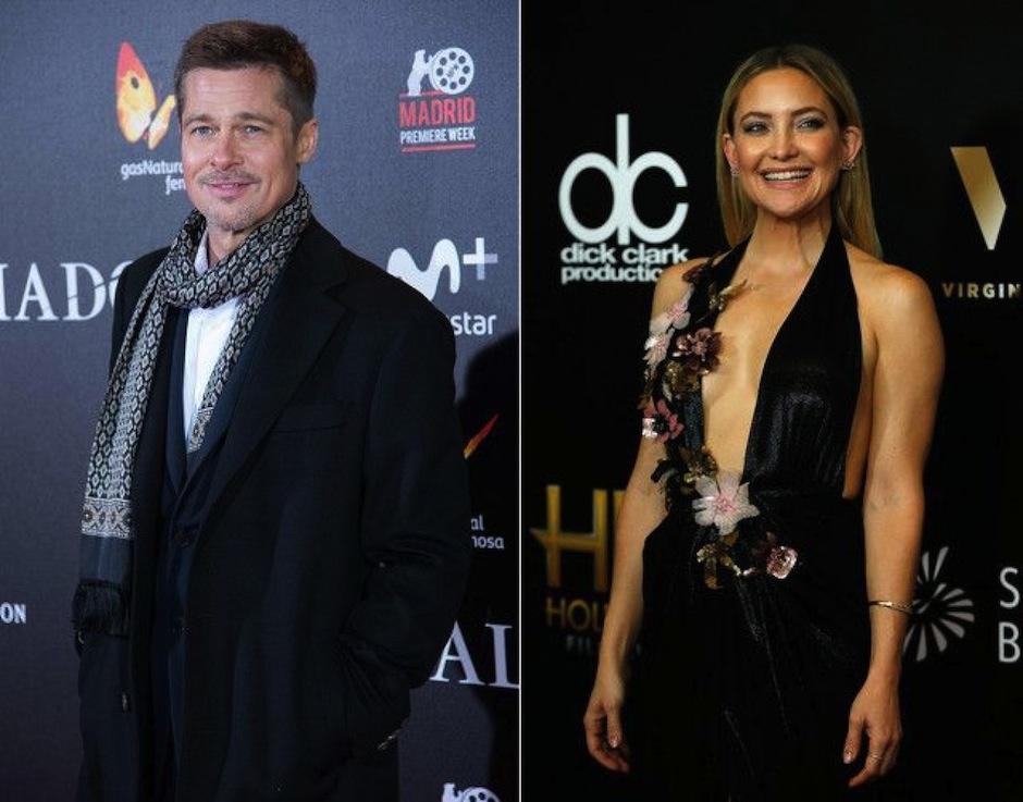 Revista estadounidense confirma los fuertes rumores de la relación entre Kate Hudson y Brad Pitt. (Foto: La Revista)