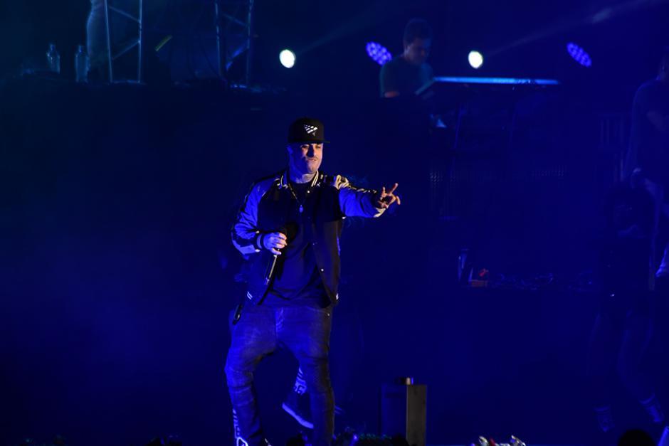 El ritmo de Nicky Jam prendió al público. (Foto: Abner Salguero/Nuestro Diario)