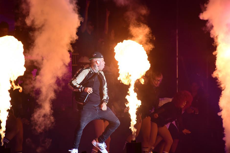 El show del cantante, Nicky Jam, fue uno de lo más sorprendentes. (Foto: Abner Salguero/Nuestro Diario)