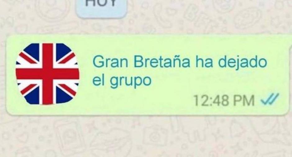 """El Reino Unido dejó """"El Grupo"""" de la Unión Europea. (Imagen: sopitas.com)"""