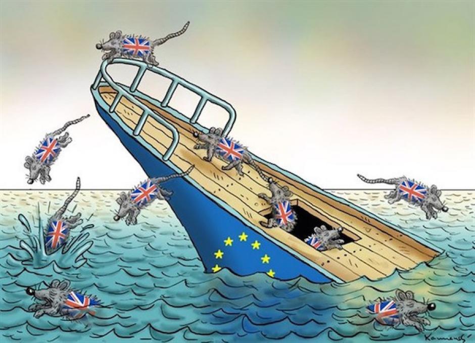 Algunos dicen que el Reino Unido abandonó un barco que se hundía. (Imagen: sopitas.com)