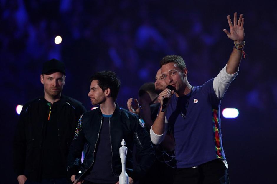 Coldplay en la gala de los Brit Awards. (Foto: AFP)