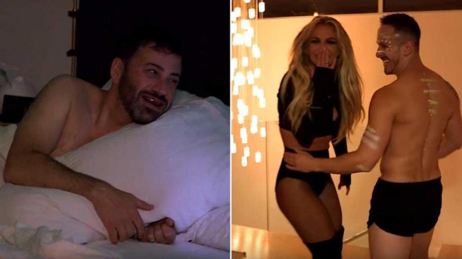 Britney le jugó una broma a Jimmy Kimmel. (Foto: Captura de YouTube)