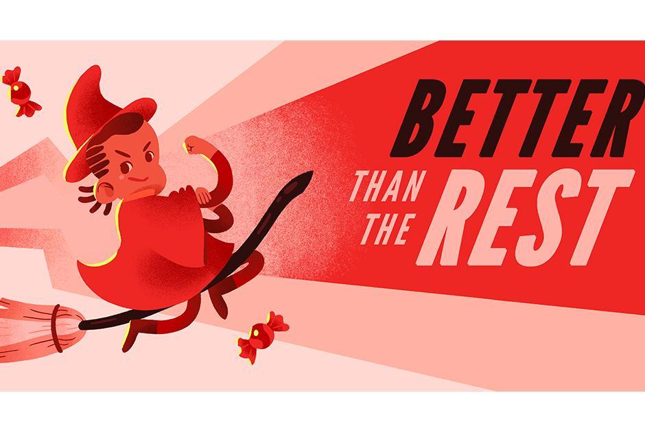 Supera los obstáculos con la bruja roja.(Foto: Google)