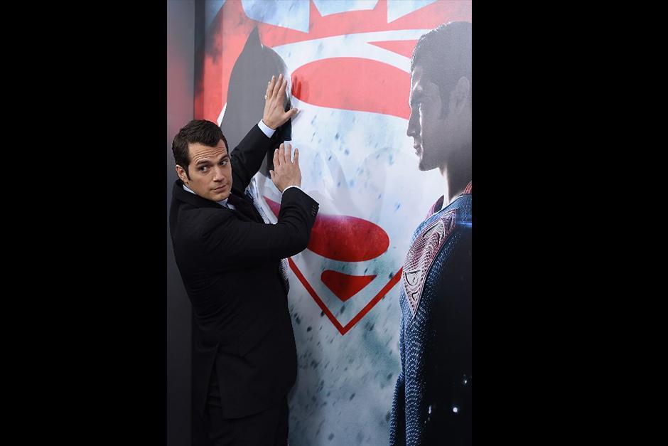 Henry Cavill en premiere de Batman Vs. Superman. (Foto: AFP)