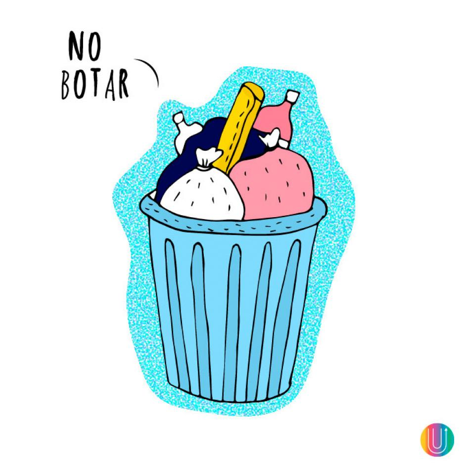 No saques la basura. (Diseño: Macarena Salinas/UPSOCL)