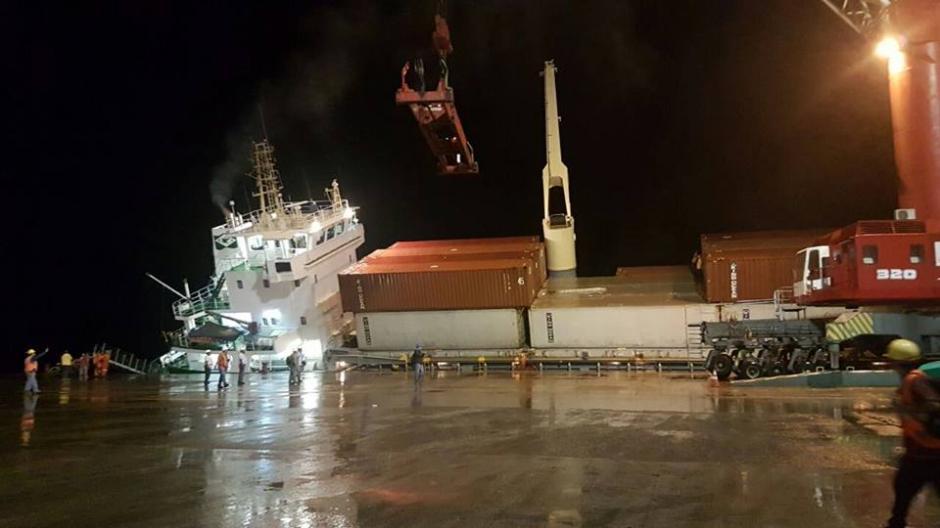 La emergencia del buque se reportó en la madrugada del lunes 19 de septiembre. (Foto: Empornac)