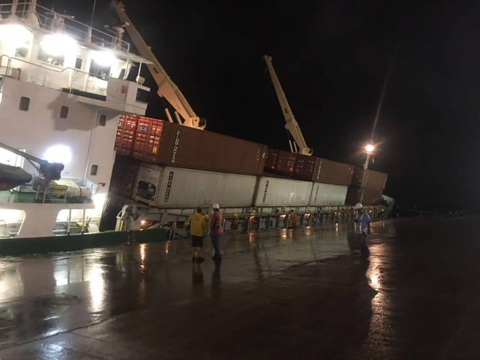El barco provenía de Nicaragua con rumbo a Miami. (Foto: Empornac)