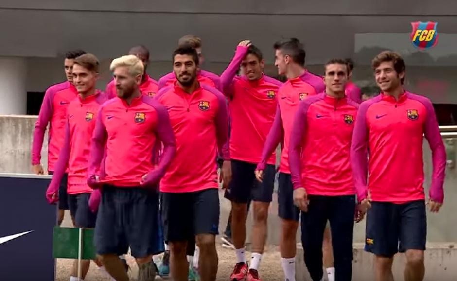 Los rostros de los jugadores lo dicen todo antes de la práctica. (Foto: FC Barcelona)