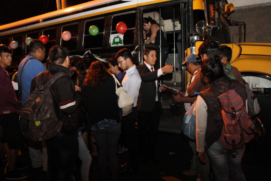 En varios departamentos también habrá buses gratuitos. (Foto: cortesía Conjuve)