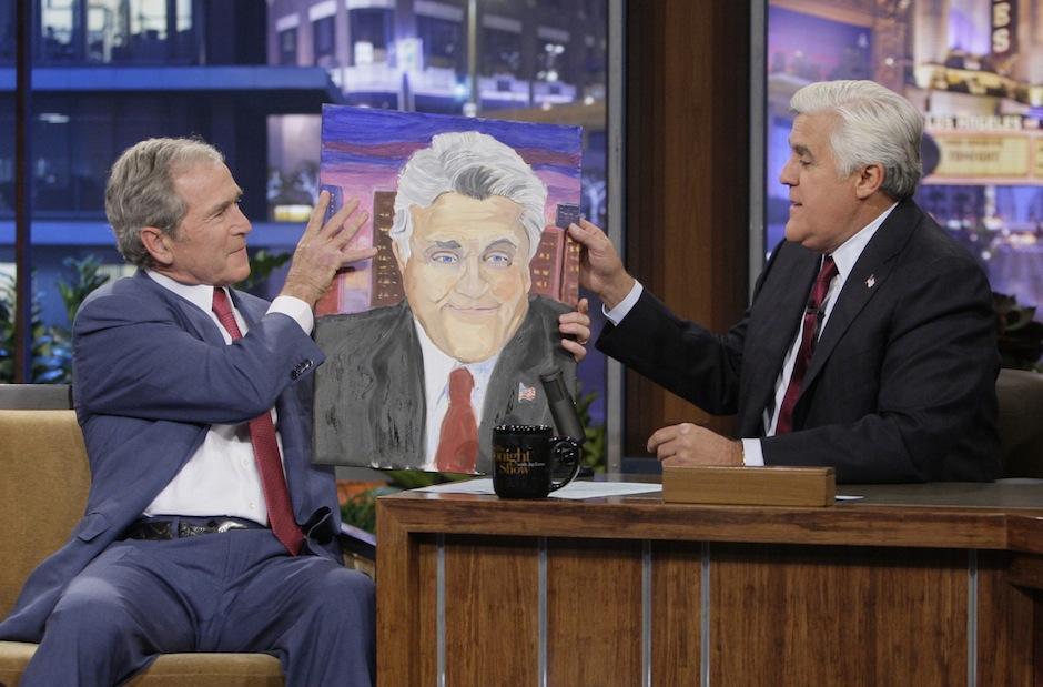 El presentador Jay Leno también fue retratado por el artista. (Foto: Huffingtonpost)
