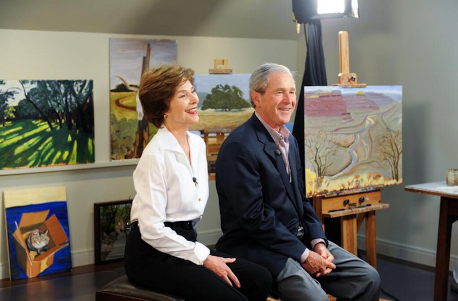El ex mandatario estadounidense George W. Bush dedica su tiempo a la pintura. (Foto: The Bush Center)