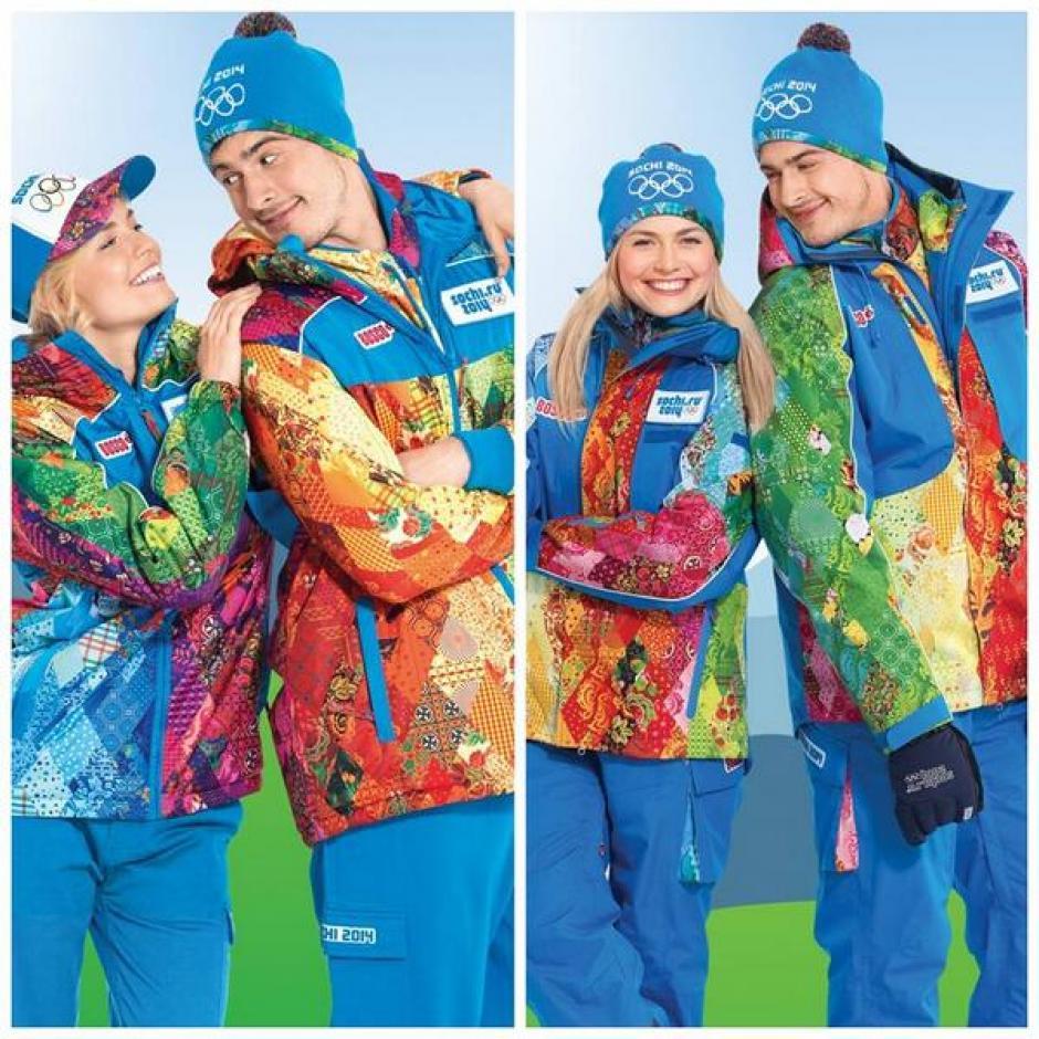 El uniforme de los voluntarios de Sochi. Foto Sochi Olympic Org.