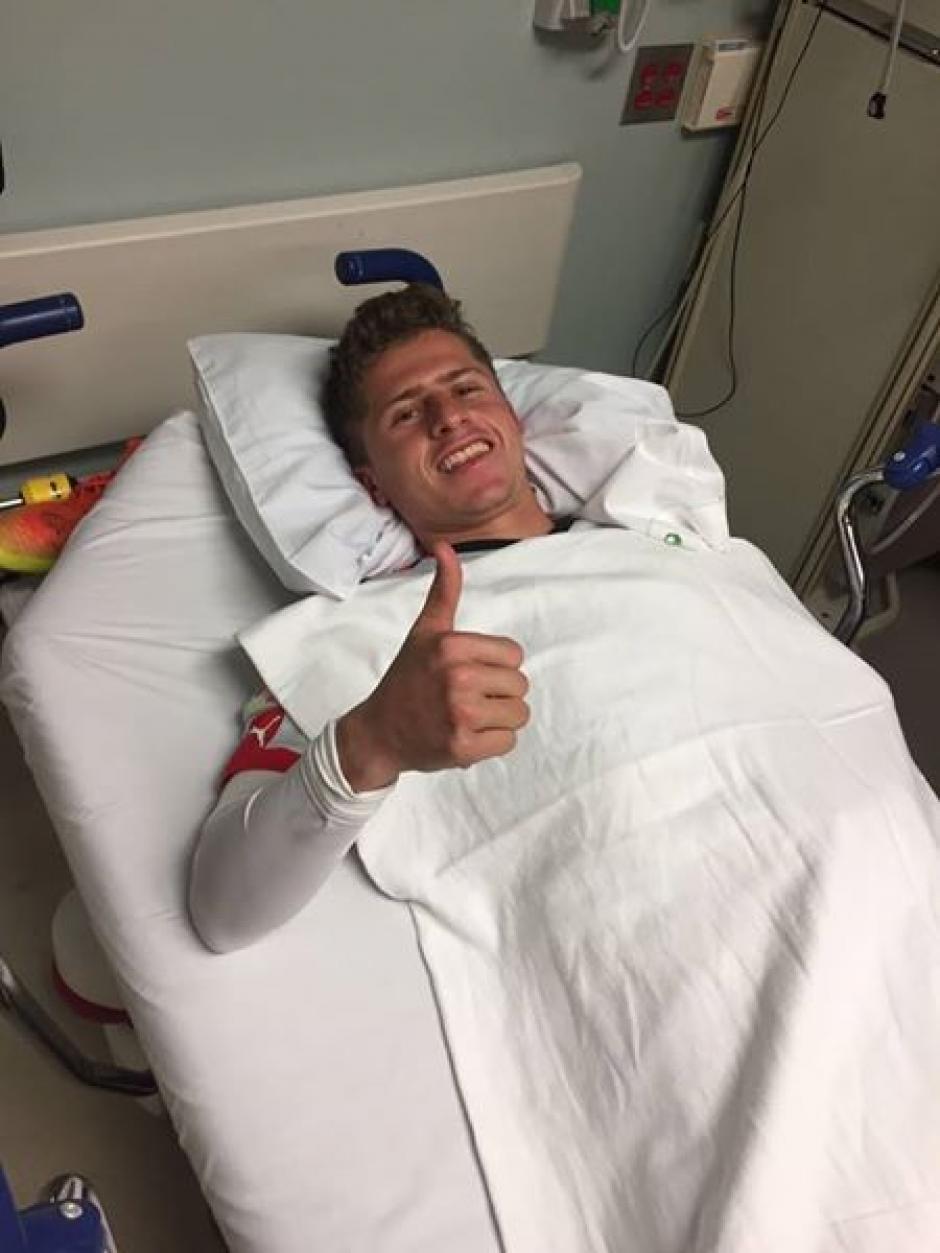 Diego Cruz se recupera satisfactoriamente . (Foto: Twitter)