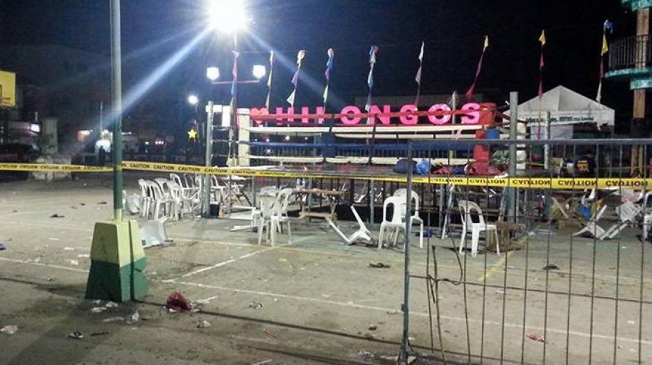 Se reportan 32 heridos tras explosión en evento de boxeo. (Foto: Twitter)