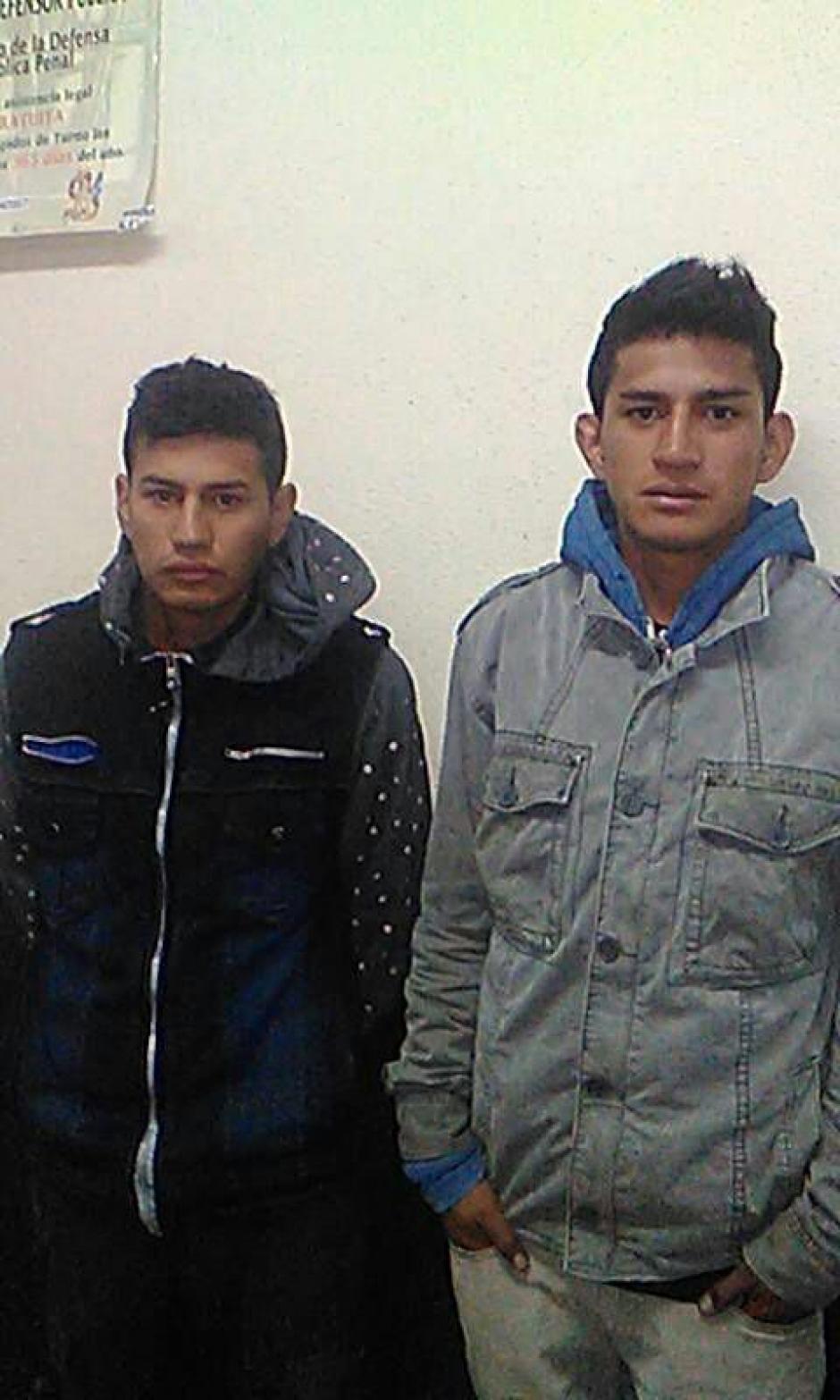 Los detenidos son Élder Rogelio y Jorge Armando Villatoro Tepe. (Foto: @Erick Colop100)