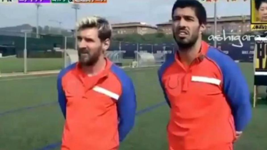 Messi y Suárez dominan otro reto de la televisión de Japón. (Foto: Twitter)