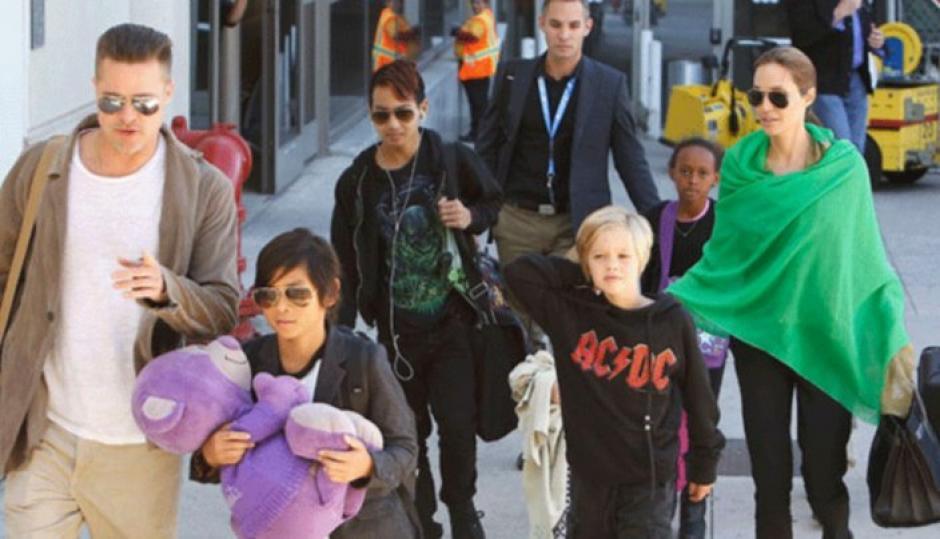 Brad Pitt pudo ver a sus hijos en Navidad. (Foto: Twitter)
