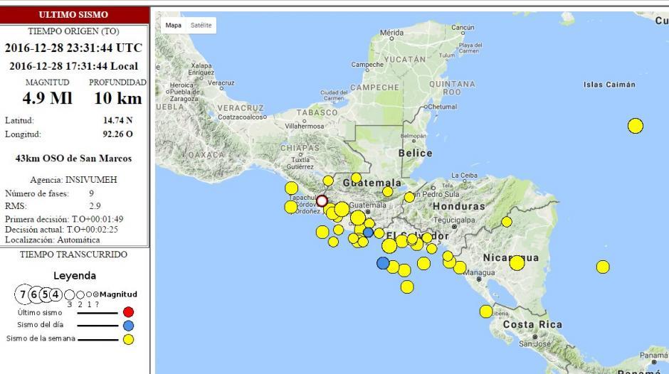 Sismo en el suroccidente de Guatemala foto