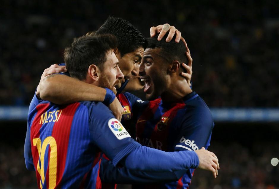 Messi, Neymar y Suárez marcaron los goles del Barcelona. (Foto: Twitter)