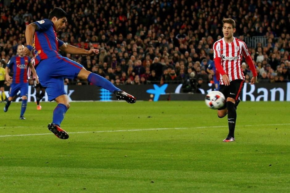 El remate de Suárez era inatajable para el portero. (Foto: Twitter)