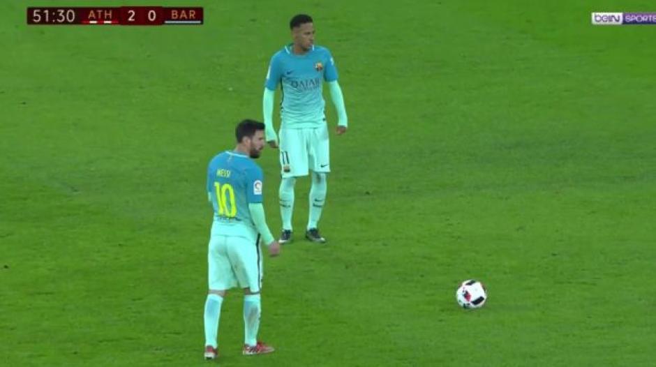 Messi marcó su primero gol de 2017 de tiro libre. (Foto: Twitter)