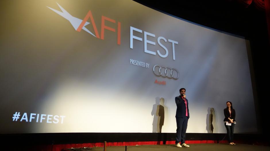 El productor nacional dedicó unas palabras a las personas que asistieron al festival.(Foto: LAK/KZR Images)