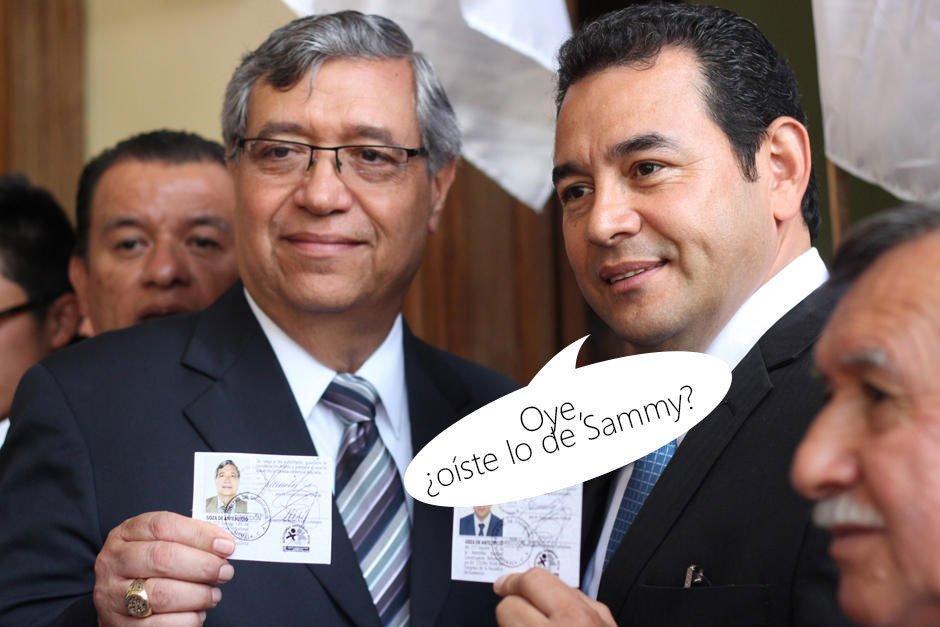 El presidente y Vicepresidente no pasaron desapercibidos. (Foto: Twitter)