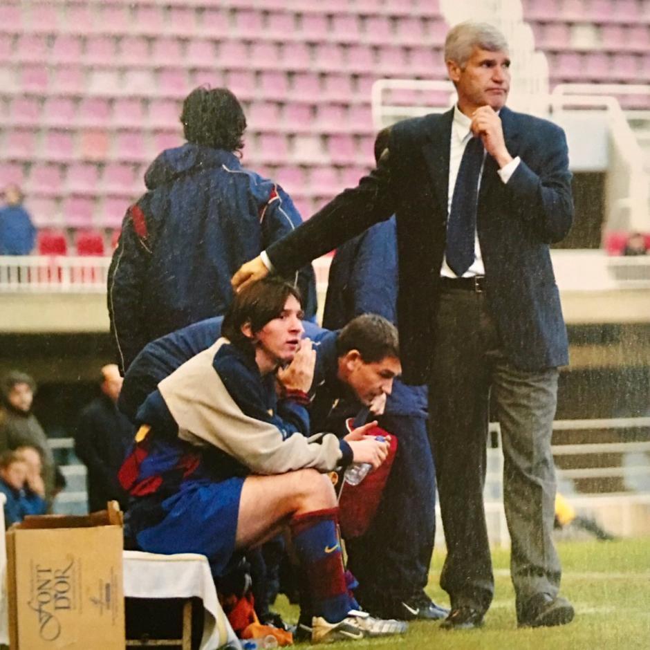 Gratacós dirigió a Messi en las inferiores del FC Barcelona. (Foto: Twitter)