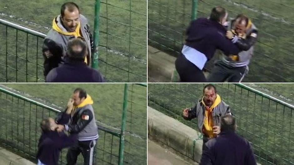 Dos padres de futbolistas juveniles se dan una golpiza a la orilla del campo. (Foto: Twitter)