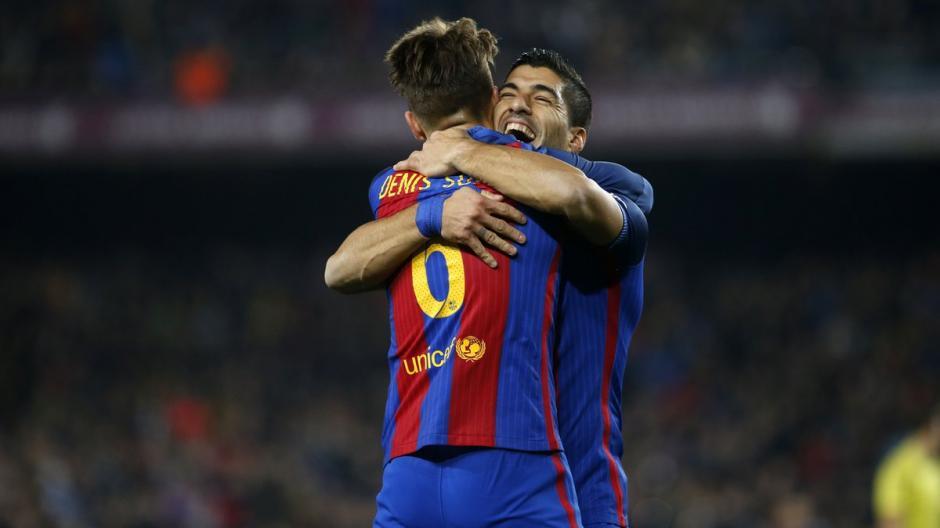 Luis Suárez pase a Denis gol de Barsa foto