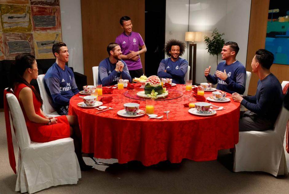 Sergio Ramos, Pepe, Marcelo y Cristiano Ronaldo celebraron el Año Nuevo chino. (Foto: Twitter)